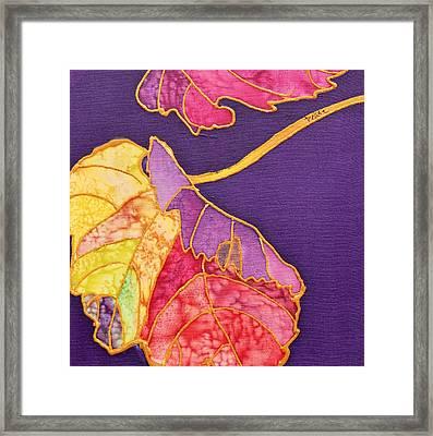 Grape Leaves Framed Print