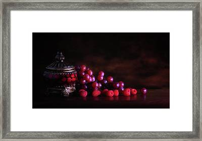 Grape Raspberry Framed Print