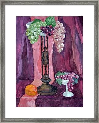 Grape Framed Print by Veronica Petrova