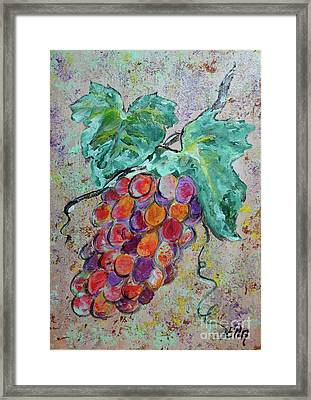 Grape Vine Fiesta Framed Print by Ella Kaye Dickey