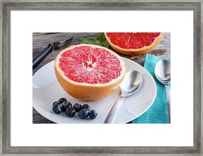Grapefruit For Breakfast Framed Print by Teri Virbickis