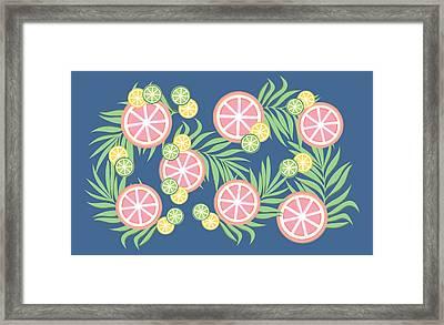 Grapefruit  Framed Print by Lauren Amelia Hughes