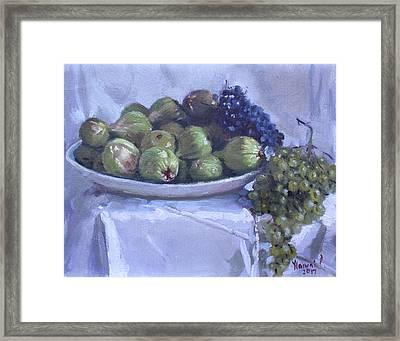 Grapes And Figs At Lida's Framed Print