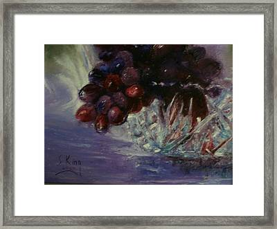 Grapes And Glass Framed Print