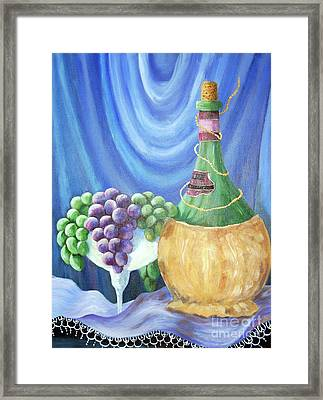 Grapes And Lace Framed Print by Janna Columbus