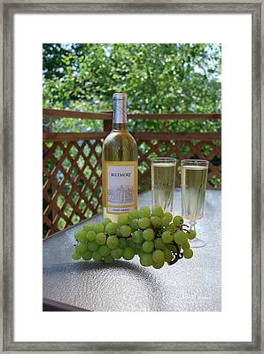 Grapes And Wine Framed Print by Gordon Mooneyhan