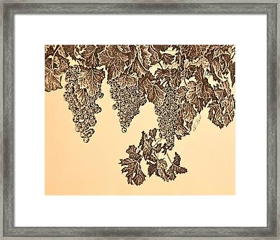 Grapes Framed Print by Billie Joyce Fell