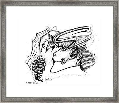 Grapes Framed Print by Gautschy Artist