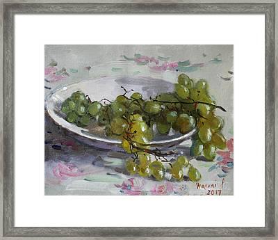 Grapes From Lida's Garden Framed Print