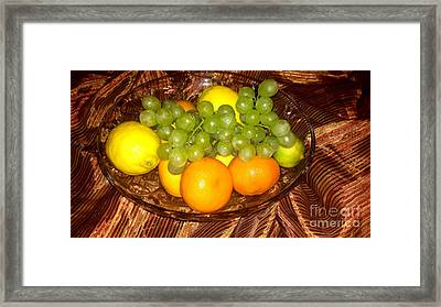 Grapes, Lemons, Mandarins And Lime  Framed Print