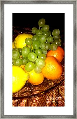 Grapes, Mandarins, Lemons Framed Print