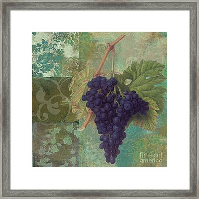 Grapes Margaux Framed Print by Mindy Sommers