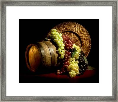 Grapes Of Wine Framed Print by Tom Mc Nemar