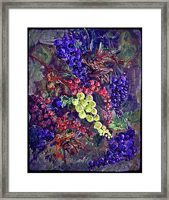 Grapes On The Vine Art 2 Framed Print