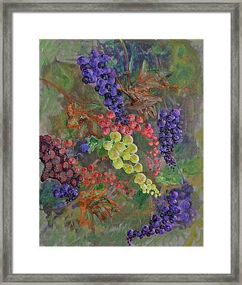 Grapes On The Vine Art Framed Print