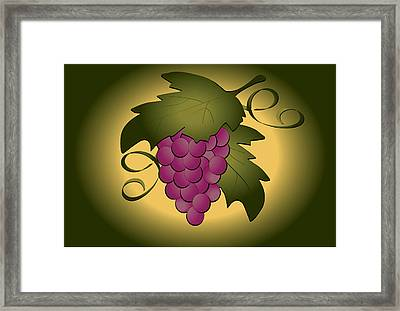 Grapes Framed Print by Pam Beal