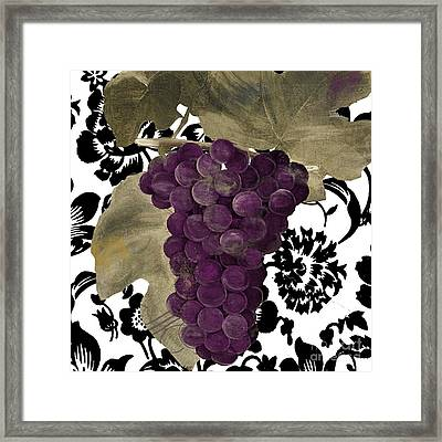 Grapes Suzette Framed Print by Mindy Sommers