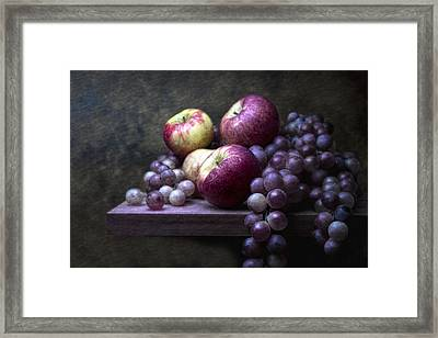 Grapes With Apples Framed Print