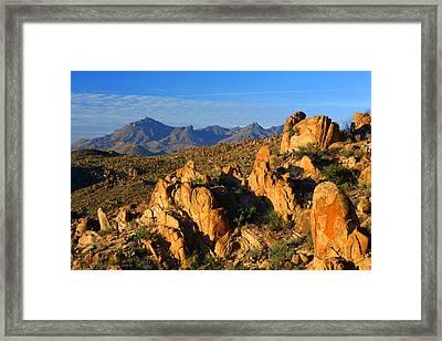 Grapevine Hills Framed Print
