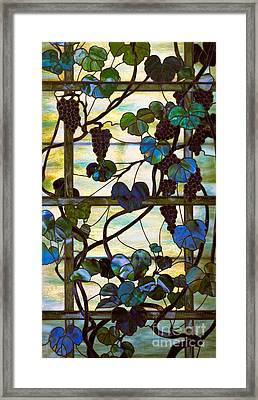Grapevine Framed Print by Louis Comfort Tiffany