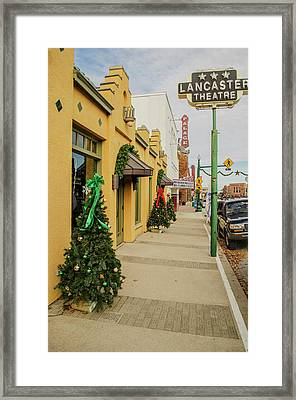 Grapevine Texas At Christmas Framed Print by Allen Sheffield