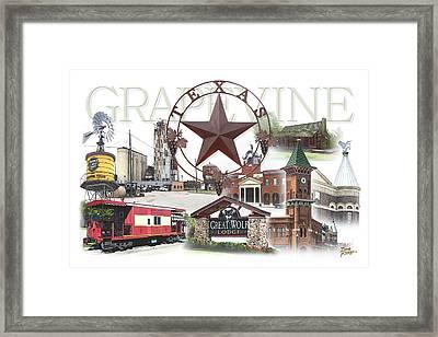 Grapevine Texas Framed Print by Doug Kreuger