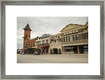 Grapevine Texas Downtown Framed Print by Allen Sheffield