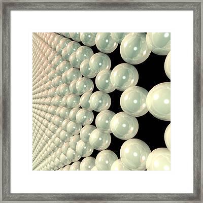 Graphene 6 Framed Print by Russell Kightley