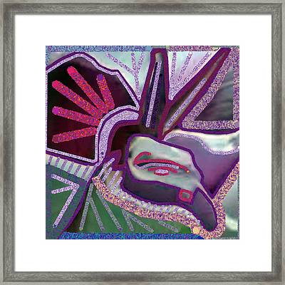 Graphic Accidental Art Discovery  Angel Bird Goodluck Symbol Created By Navin Joshi. Framed Print