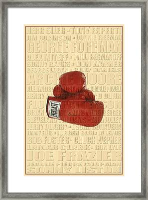 Graphic Ali Framed Print by Andrew Fare