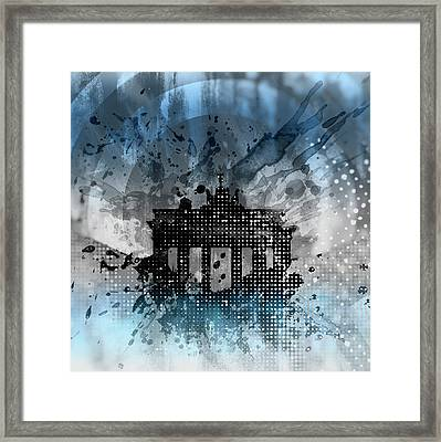 Graphic Art Brandenburg Gate Framed Print by Melanie Viola
