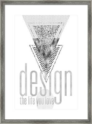 Graphic Art Design The Life You Love - Silver Framed Print