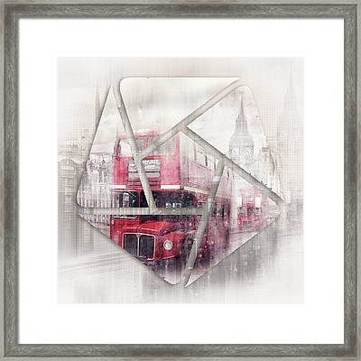 Graphic Art London Westminster Collage Framed Print