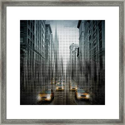 Graphic Art Nyc 5th Avenue Traffic V Framed Print by Melanie Viola