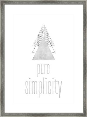 Graphic Art Pure Simplicity - Silver Framed Print