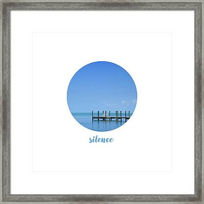 Graphic Art Silence - Oceanview Framed Print by Melanie Viola