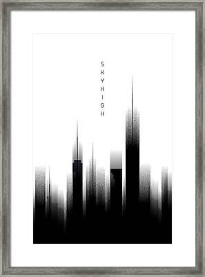 Graphic Art Skyhigh - White Framed Print