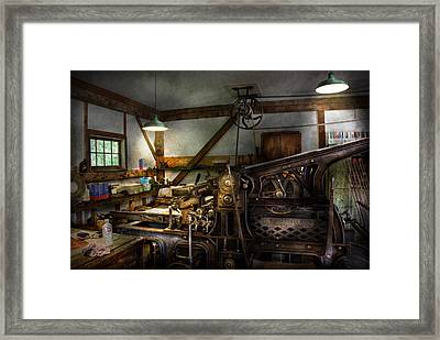 Graphic Artist - Master Press Framed Print by Mike Savad