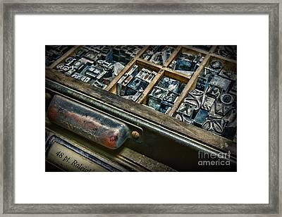 Graphic Artist - The Good Old Days Framed Print