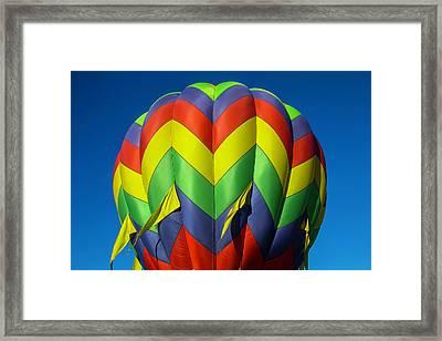 Graphic Hot Air Balloon Framed Print