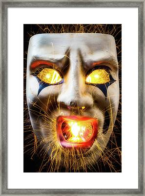Graphic Hot Mask Framed Print by Garry Gay