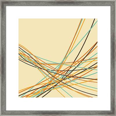 Graphic Line Pattern Framed Print