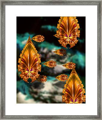 Graphic Number One Framed Print by Roger Soule