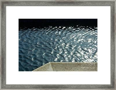 Graphic Pool Framed Print by Julia Hiebaum