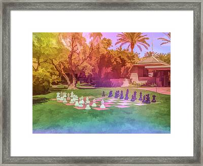 Framed Print featuring the photograph Graphic Rainbow Chess At The Biltmore by Aimee L Maher Photography and Art Visit ALMGallerydotcom