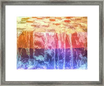 Graphic Rainbow Waterfall Framed Print