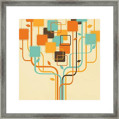Graphic Tree Framed Print
