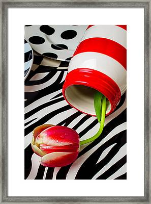 Graphic Tulip And Jar Framed Print