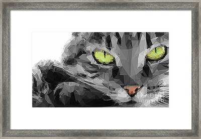 Graphical Cat Framed Print by Varun Tandon