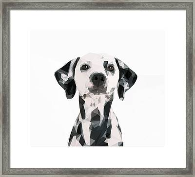 Graphical Dog Framed Print by Varun Tandon